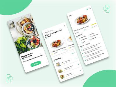 Best Recipe App Design Concept design clean ui mobile app app clean clean app cooking app cooking cook app cook diet restaurant diet app restaurant app food food app recipes app recipe app