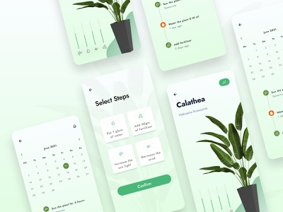 Plant Care App UI Design With IoT condition tracking tracking app design uiux ui design tech app reminder app analytics app flower app minimal plant app plant care plant smart app iot app plant care using iot internet of things iot