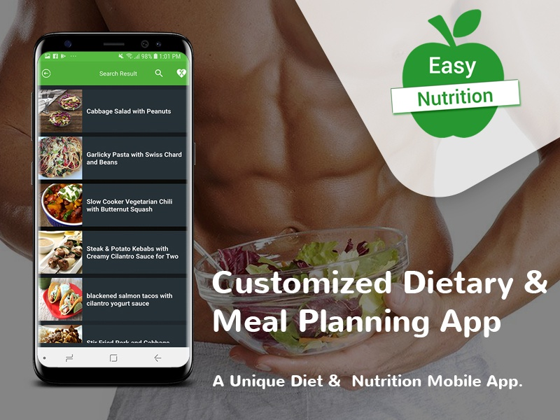 Customized Dietary App Development apps nutrition ios app dietary app design app development healthcare app development