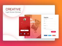 Creative Login Screen Designs