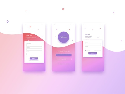 Top Login/Sign up screen for Mobile App ux design ui appdesign signup form mobileappdesign signup screen sign in page signup page login page