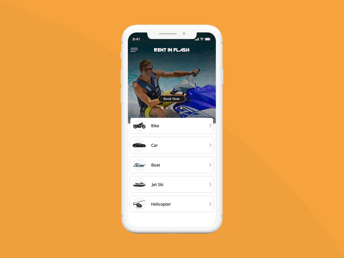 Develop a Car, Bike, Boat Rental Mobile App by Excellent