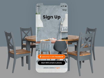 Sign Up Screens for Restaurant Mobile App
