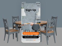 Sign Up Screens for Restaurant Mobile App