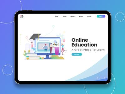 Education App UI Design Dashboard