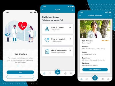Develop a Professional Doctor Mobile App healthy health care health app ui app design mobile app design mobile app doctor strange doctor app