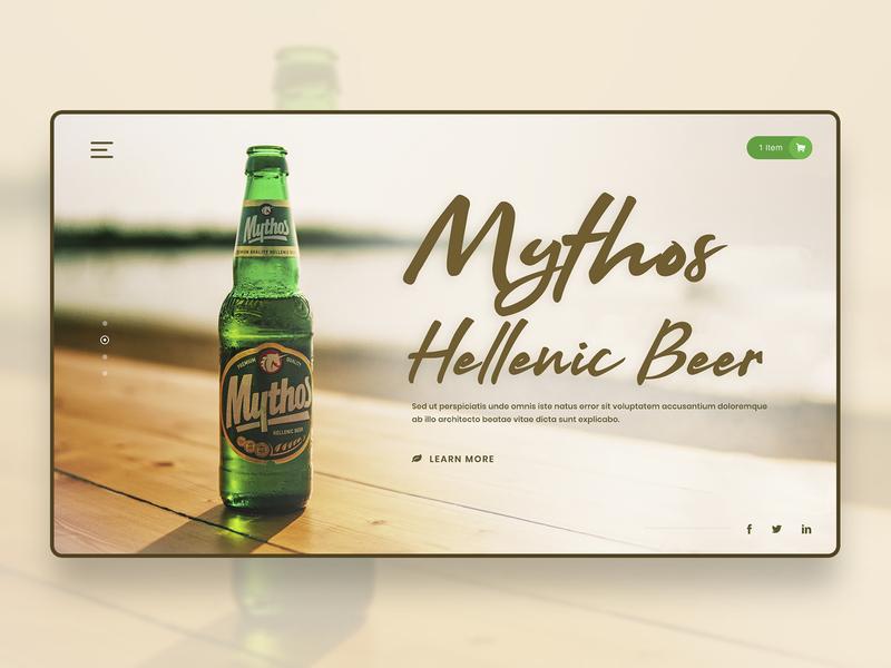 Creative Beer Design desktop application desktop design beer label beer design beer can colours clean craft beer typogaphy tablet design web design packaging design webdesign ux dailyui drink beer