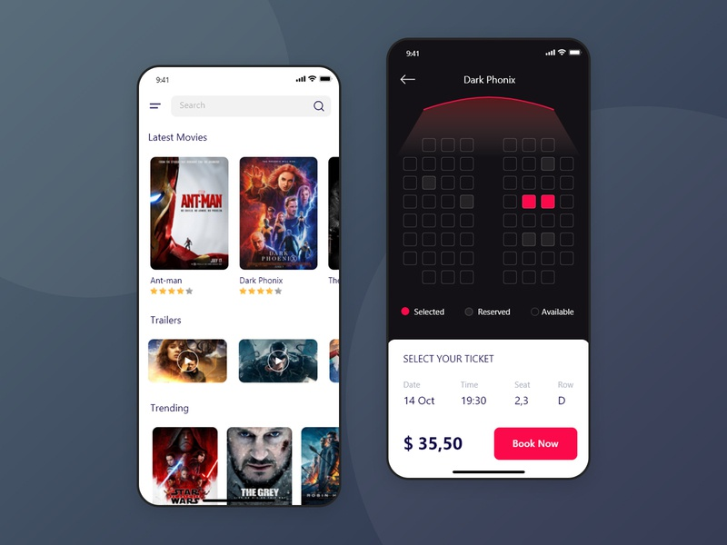 Best Movie and Entertainment Ticket Booking App entertainment ux cinema colourful movie booking ux  ui ux design mobile app design app design app development ticket booking app ticket booking ticket app movie app movie