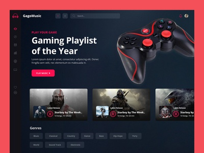 Killer Gaming Dashboard UI Design