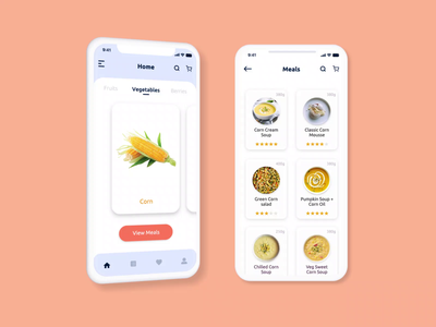 Build Your Own Recipe App for iOS and Android meals recipe book recipe restaurant app food app design foodies mobile design restaurant recipe app food app cooking app ui ux ui vegetable fastfood food lovers startup foodie food cooking