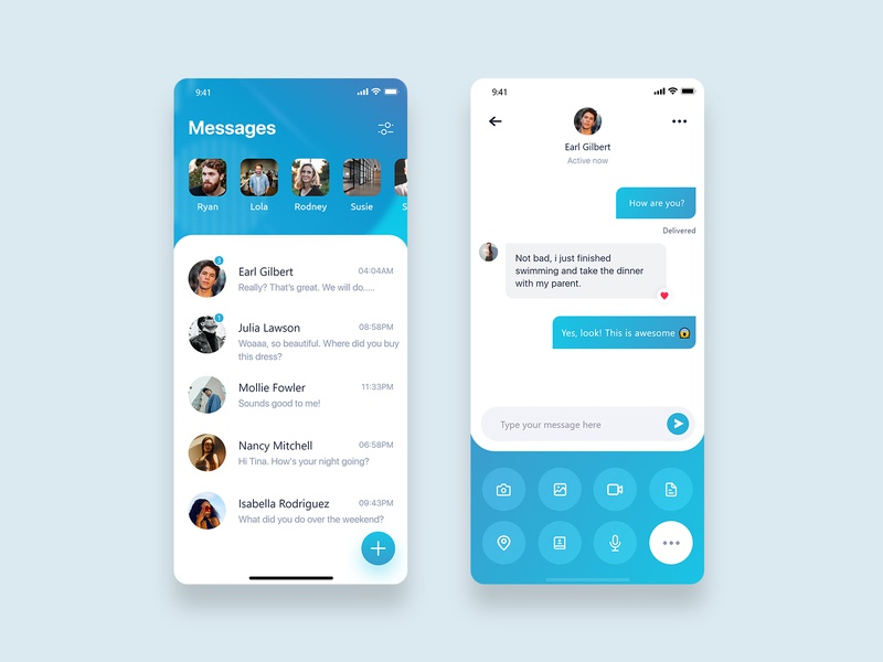 Mobile Messaging App for Text Chat