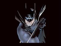 Batman illustration using mesh tool