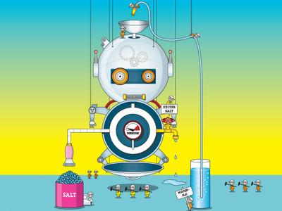 Robot Character vector illustrator character characterdesign 2d illustration