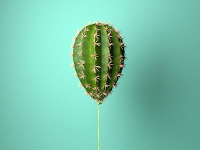 Balloon cactus cactus balloon redshift c4d 3d