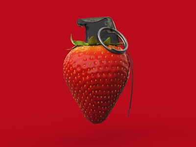 Unreasonable Strawberry redshift ident direction art 3d animation c4d