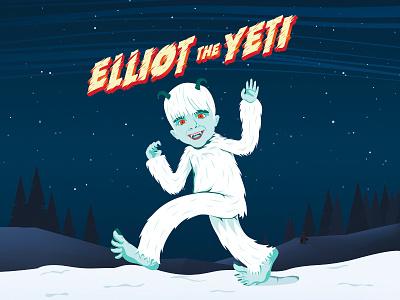 Elliot The Yeti 2d design vector character direction art illustration
