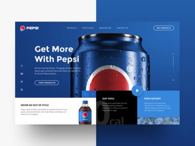 Pepsi Web-site UI Design Concept