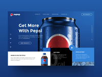 Pepsi Web-site UI Animation