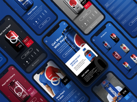 Pepsi Mobile App UI Design