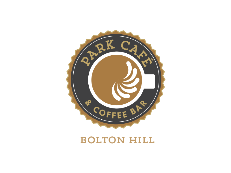 Park Cafe Study / Exploration identity cafe coffee badge logo