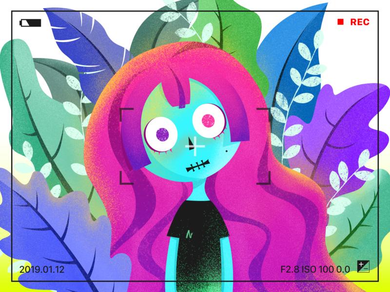 Zombie Doll design ui illustration