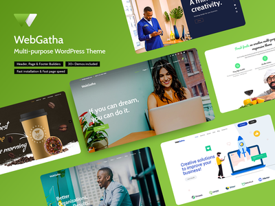 WebGatha Multi-purpose WordPress Theme business corporate woocommerce multipurpose wordpress theme design