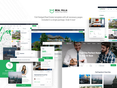 Real Villa Real Estate HTML5 Template mobile design responsive jquery css3 html5 web template realestate