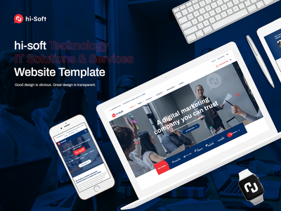 Hi Soft IT Solutions and Services Company HTML5 Template responsive web design company jquery css3 html 5 services