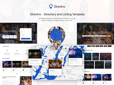 Directro - Directory and Listing Template classified graphics design website template responsive design html template listing directory