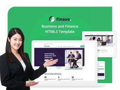 Finaxo - Business and Finance HTML5 Template responsive design graphics design banking scss jquery html css website template html template corporate business finance