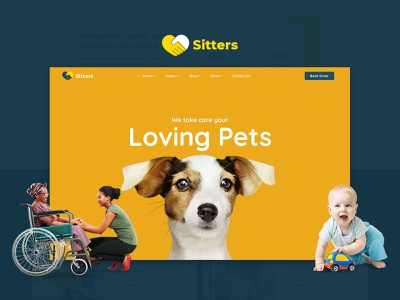 Sitters - Baby Sitter, Pet Sitter and Senior Care HTML5 Template javascript jquery scss css3 html graphics design responsive design website template senior care baby sitter pet sitter sitter