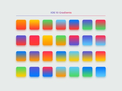 iOS & Android App Color Swatches & Gradients Pack ios colors high hi res grd gradients customize colours colors art android design aco