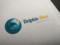 Dolphin Show Logo Template
