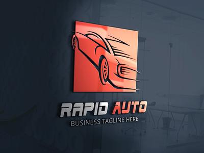 Rapid Auto Logo Template rapid race company racing fast speed dealer auto car brand