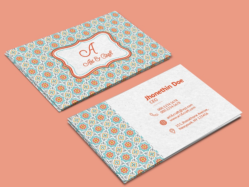 Craft Agency - Download Free Business Card Template template free visiting card craft art brand identity business card download
