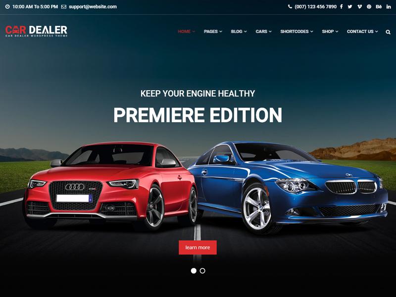 Car Dealer Automotive Responsive Wordpress Theme By Potenza Global