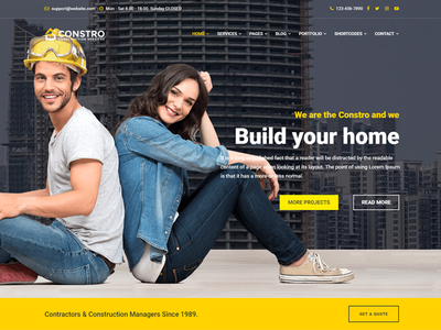 Constro - Construction Business Umbraco Theme painting maintenance interior industry engineering electrician contractor theme construction building builder architecture