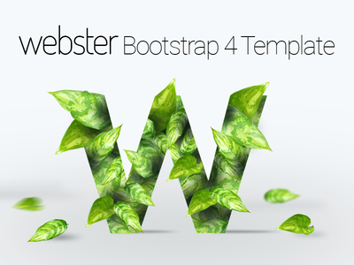 Webster - Responsive Multi-purpose Bootstrap 4 Template bootstrap template business website cafe website construction website consulting website corporate website e-commerce website medical website multipurpose template one-page site bootstrap 4