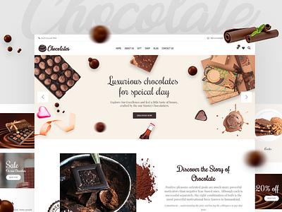 Chocolate E-commerce  WooCommerce Theme themeforest theme envatomarket chocolate website choco chocolate bar chocolate e-commerce design ecommerce shop
