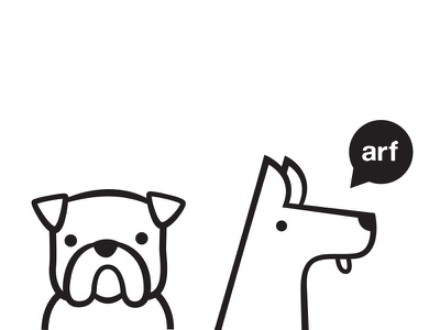 dogs say arf dog arf cute