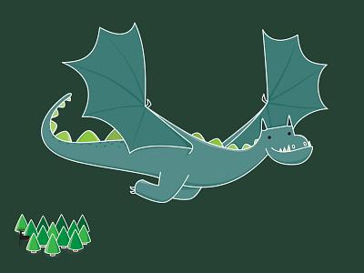 Dragon dragon illustration