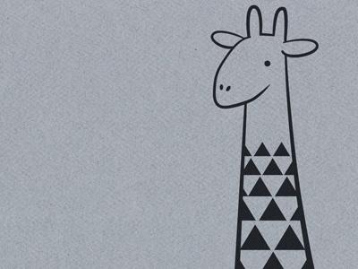 triangles in a giraffe giraffe illustration quirky africa