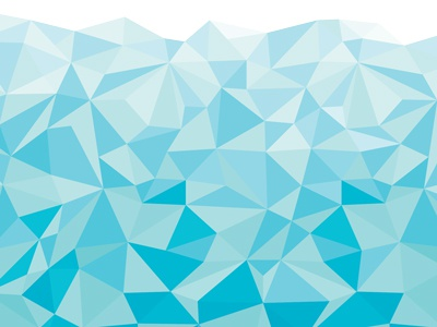 secret packaging project blue polygons packaging ocean triangles