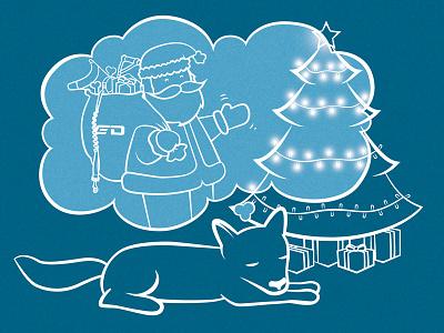 dreaming of santa dog santa dreaming dreams christmas tree