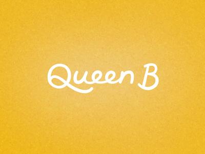 Queen B custom lettering lettering type yellow script