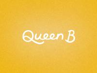 Queen B custom lettering