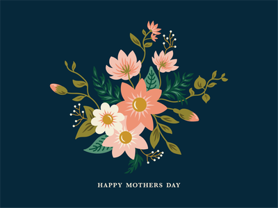 Happy Mothers Day spring mom love mothers day floral flowers botanical vector digital illustration graphic design illustration