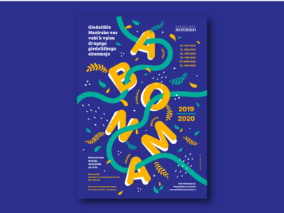 Theatre poster - season 2019/2020