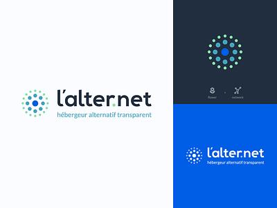 L'alternet branding adobe illustrator network flower logo design logo