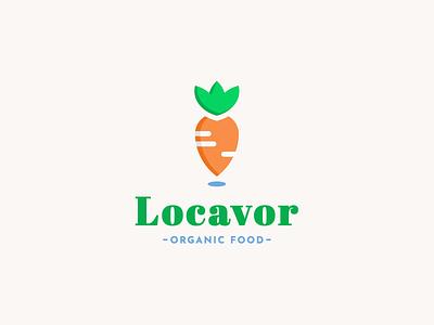 Locavor logomark vegetable carrot dribbbleweeklywarmup adobe illustrator logo design logo